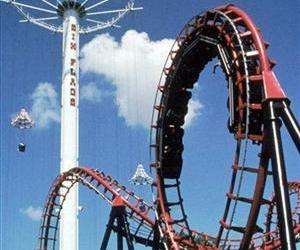A ride is seen at a Six Flags park in Arlington, Texas.