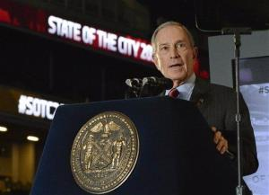 New York City Mayor Michael Bloomberg delivers his annual State Of The City address in Brooklyn earlier this week.