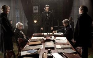 Daniel Day-Lewis is seen as Abraham Lincoln, in a scene from Lincoln.