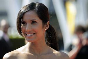 Padma Lakshmi arrives at the 2012 Creative Arts Emmys at the Nokia Theatre on Saturday, Sept. 15, 2012, in Los Angeles.