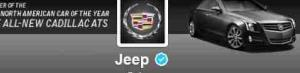 The hijacked image on Jeep's Twitter feed.