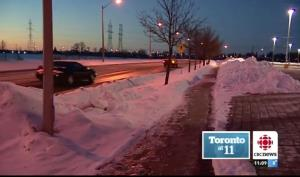 The girl was born on a freezing night on this sidewalk in western Toronto.