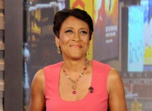 This Aug. 20, 2012 file photo released by ABC shows co-host Robin Roberts during a broadcast of Good Morning America, in New York.