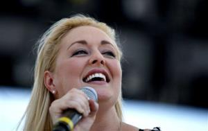 Country artist Mindy McCready perfoms at the CMA Music Festival Thursday, June 5, 2008, in Nashville, Tenn.