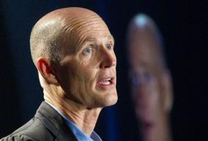 Florida Gov. Rick Scott speaks in Fort Lauderdale in this photo from 2012.