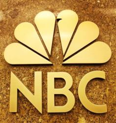 The NBC logo and peacock.