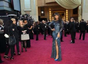 Actress Jennifer Hudson arrives at the Oscars at the Dolby Theatre on Sunday Feb. 24, 2013, in Los Angeles.