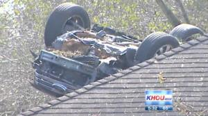 A screen grab from KHOU video of the incident.