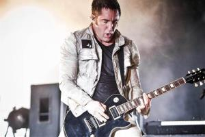 Trent Reznor performs during the Music Openair Festival in St. Gallen, Switzerland, Saturday, June 27, 2009.
