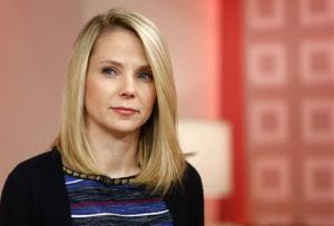 This image released by NBC shows Yahoo CEO Marissa Mayer appearing on NBC News' Today show, Wednesday, Feb. 20, 2013 in New York.