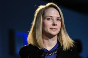 In this Friday, Jan. 25, 2013, file photo, Marissa Mayer, CEO of Yahoo!, listens during the 43rd Annual Meeting of the World Economic Forum, in Davos, Switzerland.