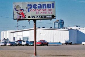 This Feb. 3, 2009, file photo shows the Peanut Corporation of America processing plant in Plainview, Texas.