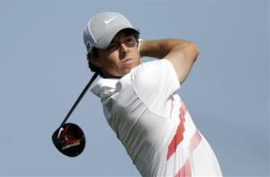 Rory McIlroy, of Northern Ireland, watches a tee shot Thursday at the Honda Classic.