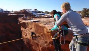Ceighton Baird pushes girlfriend Jessica Powell off a cliff in Utah.