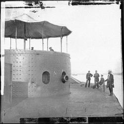 This photo released by the NOAA shows the USS Monitor.