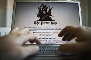 This is an arranged photograph of the Pirate Bay homepage, taken Nov. 21, 2008.
