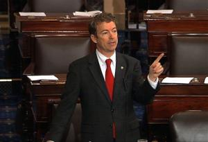 This video frame grab provided by Senate Television shows Sen. Rand Paul, R-Ky. speaking on the floor of the Senate on Capitol Hill in Washington, Wednesday, March 6, 2013.