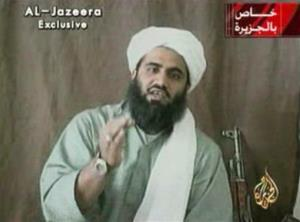 This image made available by Al-Jazeera shows Sulaiman Abu Ghaith, Osama bin Laden's son-in-law.