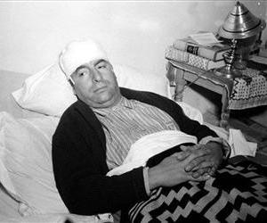 In this Dec. 1941 file photo, Pablo Neruda lies in a bed in Mexico City, recovering from injuries police said were inflicted by a group of German nationals in Cuernavaca the day before.