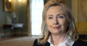 This undated publicity photo provided by PBS shows Hillary Clinton.