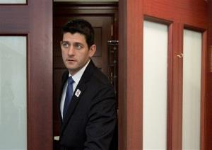 In this Jan. 1, 2013 file photo, House Budget Committee Chairman Rep. Paul Ryan, R-Wis., leaves a Republican caucus on Capitol Hill in Washington.