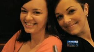 A screenshot from KWQC's report on Abbey Donohoe and Paula O'Brien.