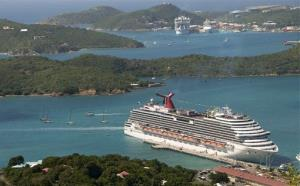 In this Jan. 5, 2010 photo released by Carnival Cruise Lines, the Carnival Dream is docked in St. Thomas, USVI.