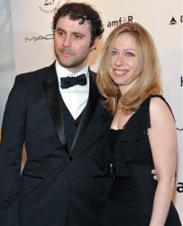 Chelsea Clinton and husband Marc Mezvinsky attend amfAR's annual New York Gala at Cipriani Wall Street on Wednesday, Feb. 9, 2011 in New York.