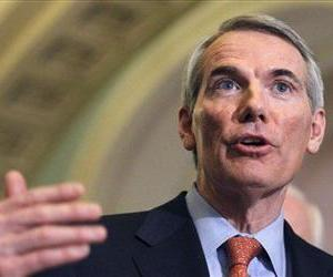 In this Feb. 15, 2011 file photo, Rob Portman, speaks on Capitol Hill.