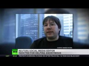 Reuters journalist Matthew Keys faces up to 25 years in jail for helping hacker group Anonymous.