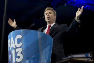 Sen. Rand Paul, R-Ky., speaks at the 40th annual Conservative Political Action Conference in National Harbor, Md., Thursday, March 14, 2013.
