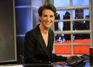 In this Sept. 23, 2008 file image originally released by MSNBC, Rachel Maddow from MSNBC's The Rachel Maddow Show, is shown.