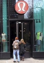 Shoppers enter the Lululemon Athletica store  Tuesday, March 19, 2013 at Union Square in New York.