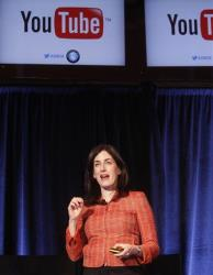 Tara Levy, Global Marketing Director, Ads, for Google and YouTube, gives a presentation at Advertising Week on Tuesday, Oct. 2, 2012 in New York.