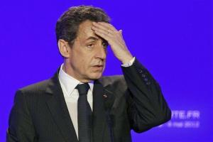 Nicolas Sarkozy from his failed re-election campaign, on May 4, 2012.