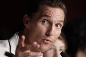 Matthew McConaughey in a 2012 photo from Cannes, France.