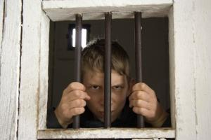 A teenager in solitary confinement.