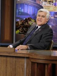 Jay Leno on the set in Burbank in this photo from September 2012.