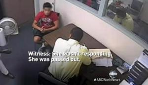 A teenager is interviewed by police about the Steubenville rape case.