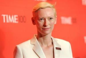Actress Tilda Swinton attends the TIME 100 gala, celebrating the 100 most influential people in the world, at the Frederick P. Rose Hall on Tuesday, April 24, 2012 in New York.