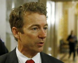 In this March 7, 2013 file photo, Sen. Rand Paul talks to reporters on Capitol Hill.