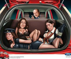 Silvio Berlusconi and a rather unfortunate Ford ad.