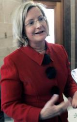 This Feb. 20, 2008 photo shows Rep. Jessica Upshaw, R-Diamondhead, at the Capitol in Jackson, Miss. Simpson County Coroner Terry Tutor says Upshaw died Sunday, March 24, 2013.