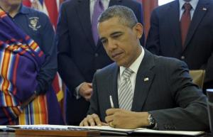President Obama signs legislation under the Antiquities Act designating five new National Monuments.