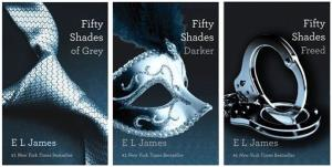 This file combo shows the Fifty Shades of Grey trilogy by author E L James.