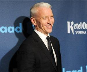 CNN news anchor and honoree Anderson Cooper attends the 24th Annual GLAAD Media Awards at the Marriott Marquis on Saturday March 16, 2013 in New York.