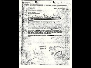 The FBI's Hottel memo, concerning second-hand reports of a UFO crash in 1950, has proven to be the most popular Bureau file on its public document website.
