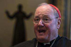 Cardinal Timothy Dolan, the Archbishop of New York, talks during an interview in Rome, Thursday, Feb. 28, 2013.