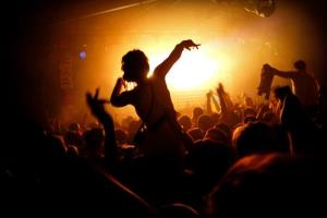 A nightclub in full swing.