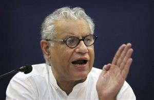 Anand Grover, a lawyer for the Cancer Patients Aid Association, who led the legal fight against Novartis, addresses a press conference in New Delhi, India, Monday, April 1, 2013.